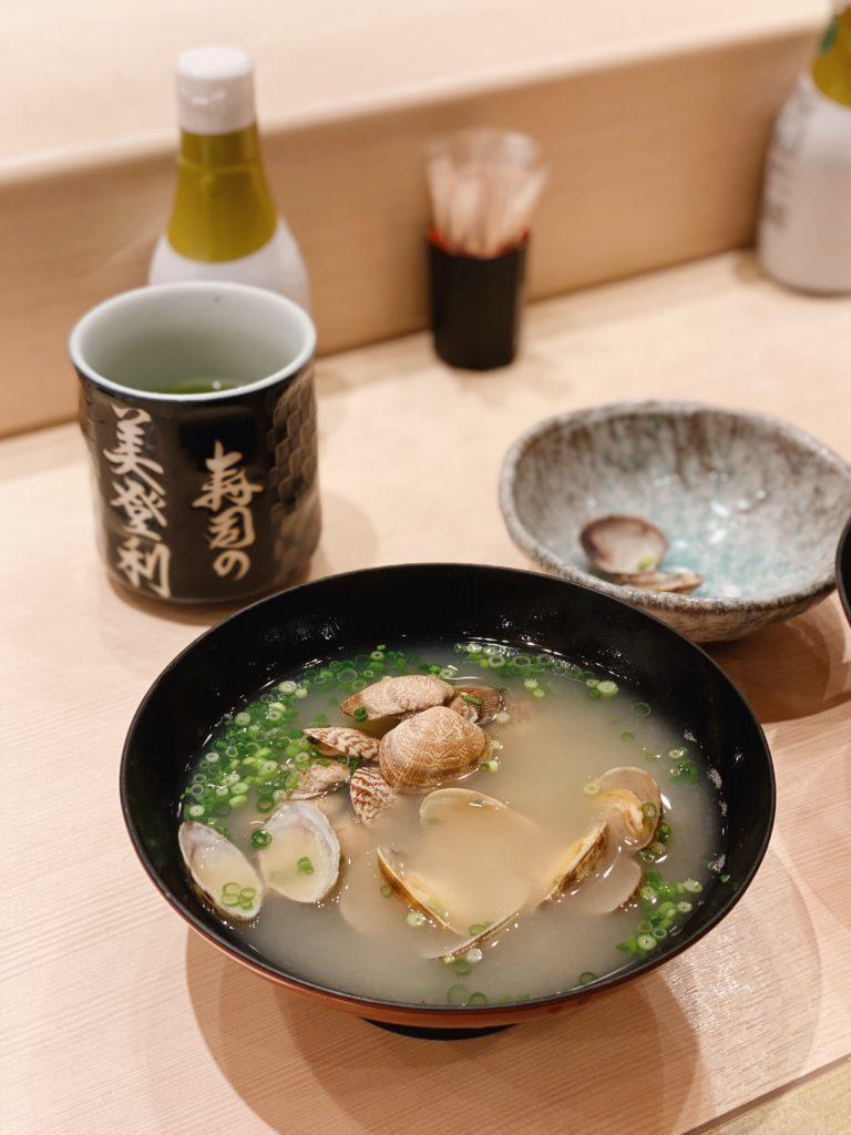 clam soup seafood tokyo japan