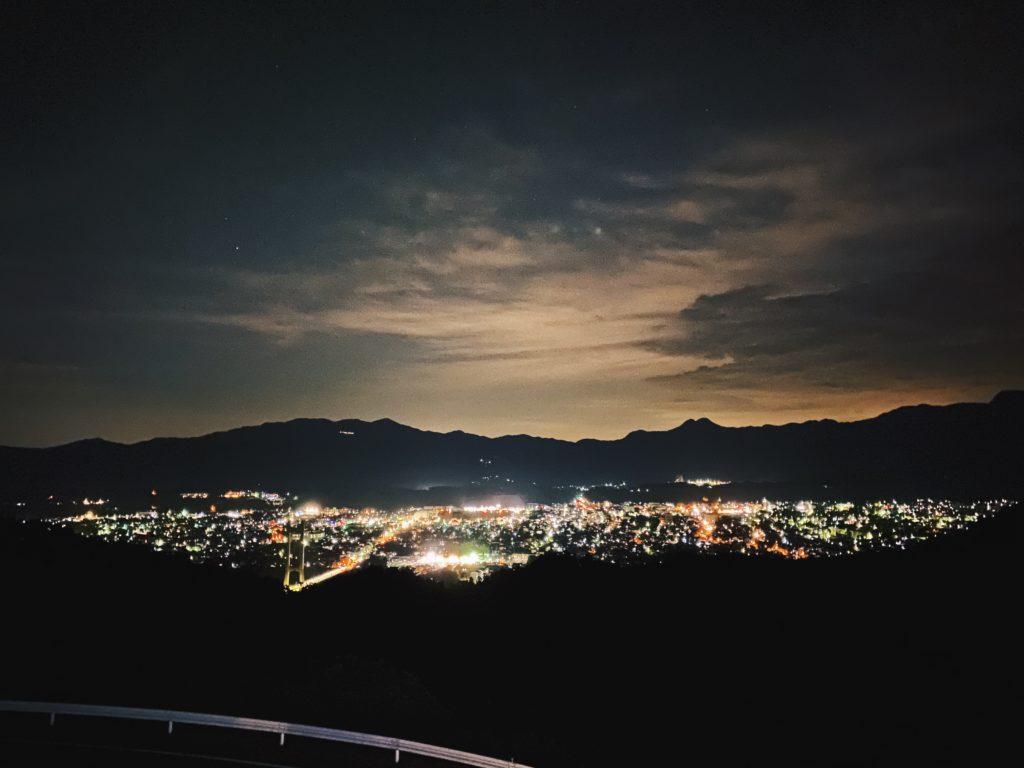 Chichibu city at night from Muse Park