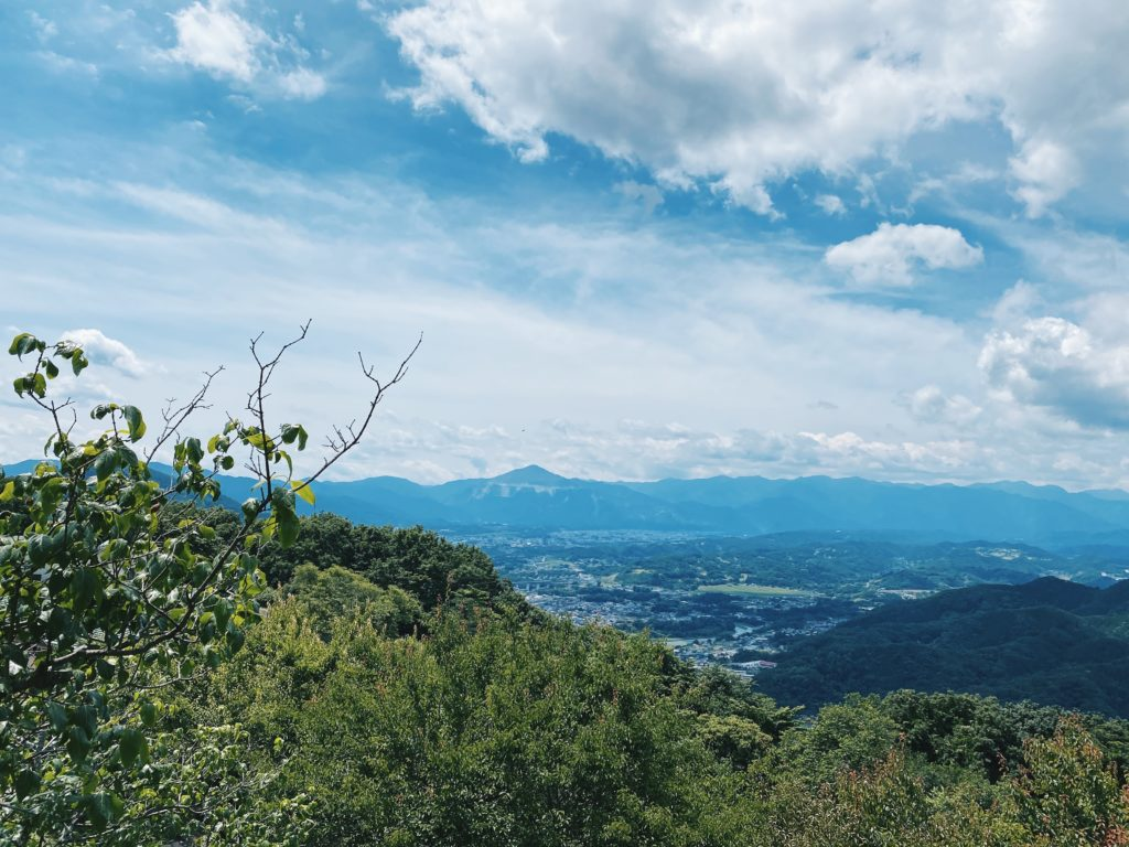 View from the summit of Hodosan in Saitama Prefecture